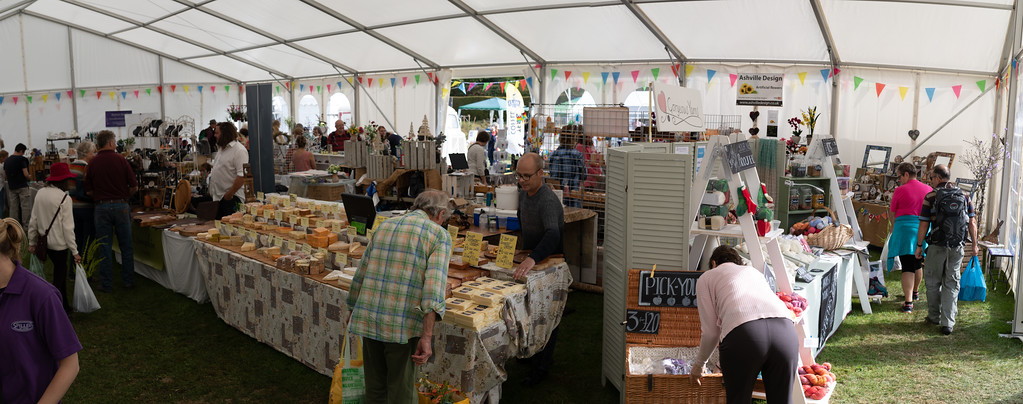 Craft exhibitors at Toby's Garden Festival
